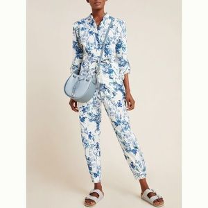 NWT Anthropologie Lucienne Belted Jumpsuit